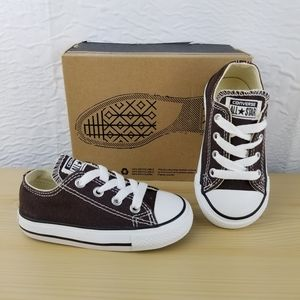 NEW Baby UNISEX CONVERSE Brown, size 5 INFANT = 5c